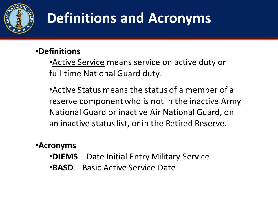 Types of Military Retirements Regular Non-Regular (15 or 20 year) 10 USC 12741 Types of Retirements