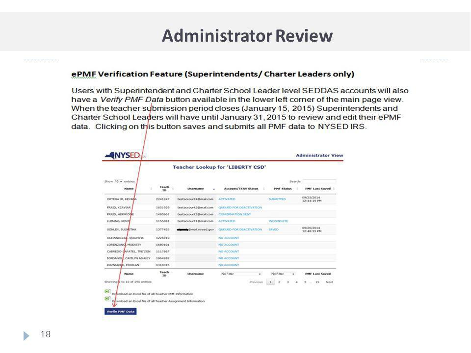 Administrator Review 18