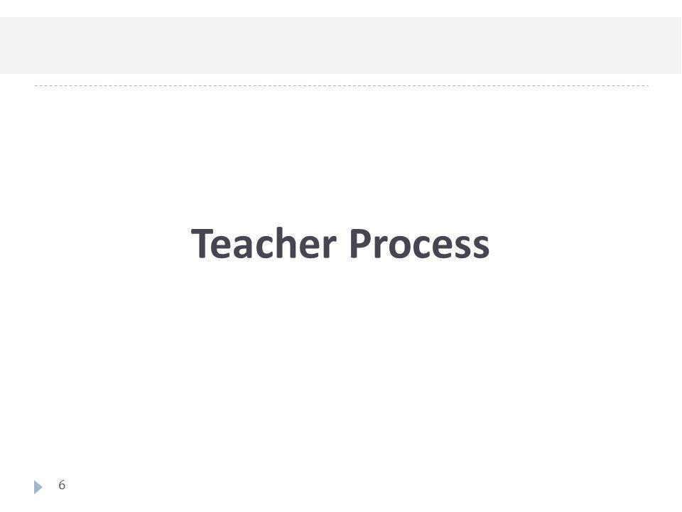 Teacher Process 6