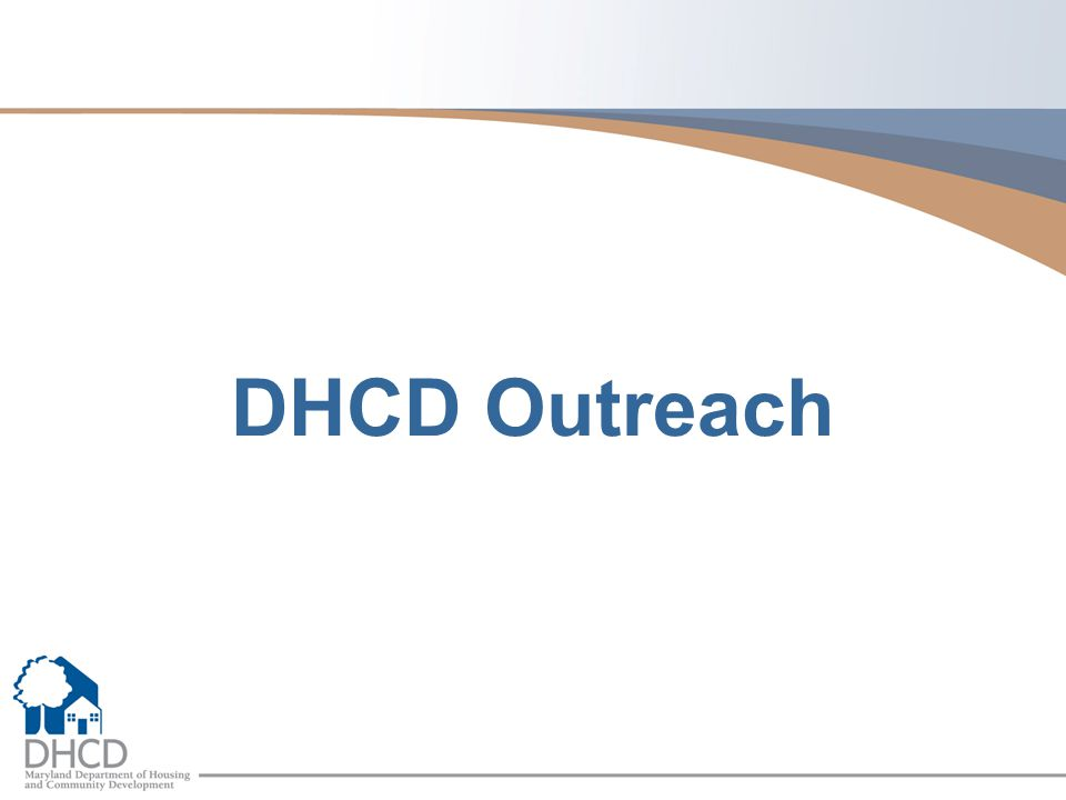 DHCD Outreach