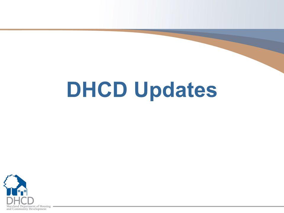DHCD Updates