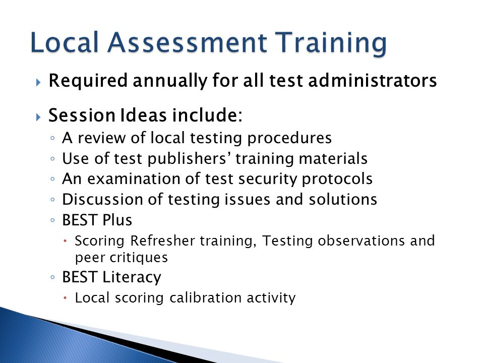  Post-testing Minimum Hours Lockdown ◦ GALIS will not allow entry of post-test data until hourly requirement is met  BEST Plus, BEST Literacy, GAIN, TABE CLAS-E – 60  TABE – 30 (ASE) or 40 (ABE) ◦ Hours are tracked by subtest for GAIN and TABE (example on the next slide) ◦ GALIS report AL191 shows hours by subtest  Weekly attendance entry is required
