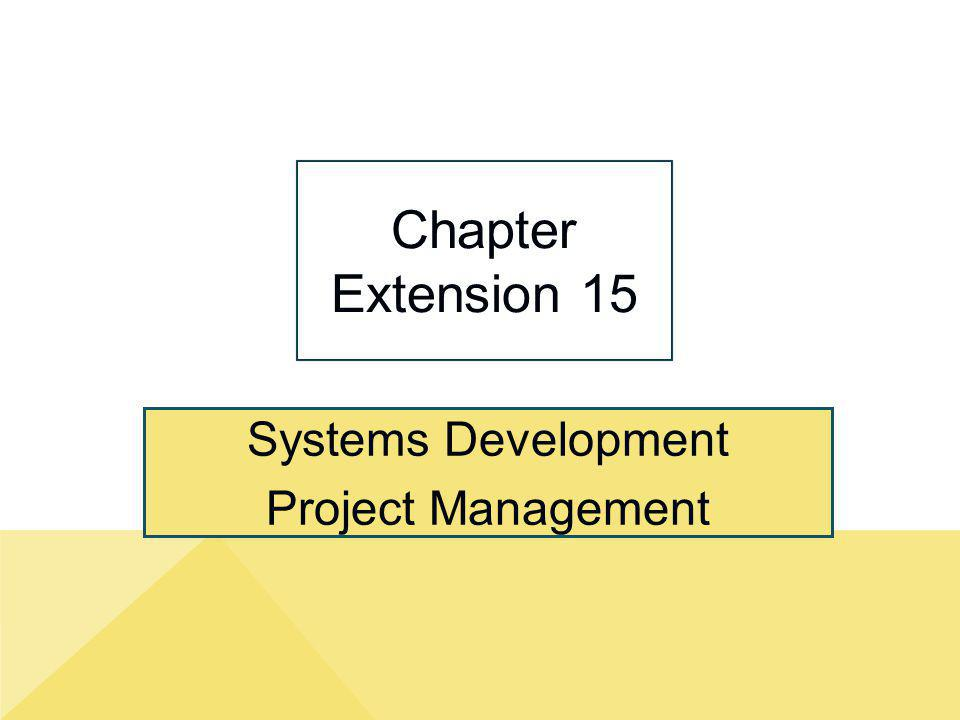 Systems Development Project Management Chapter Extension 15