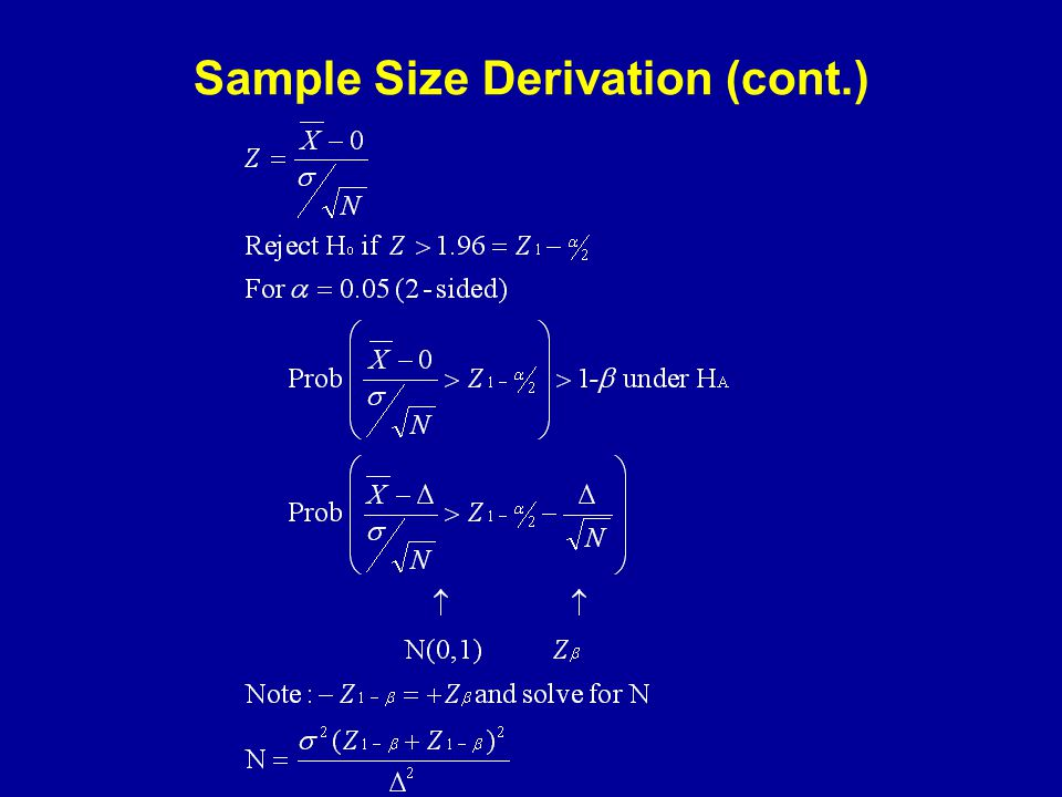 Sample Size Derivation (cont.)