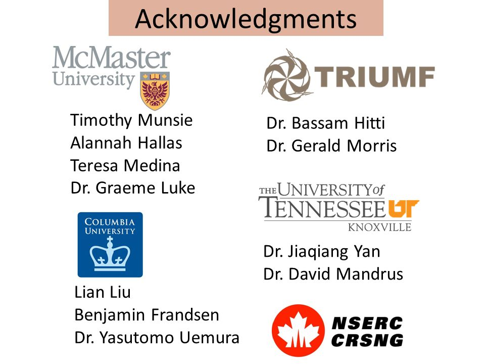 Acknowledgments Timothy Munsie Alannah Hallas Teresa Medina Dr.