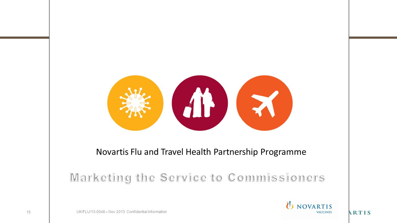 Novartis Flu and Travel Health Partnership Programme 15 UK/FLU/13-0046 – Nov 2013 Confidential Information