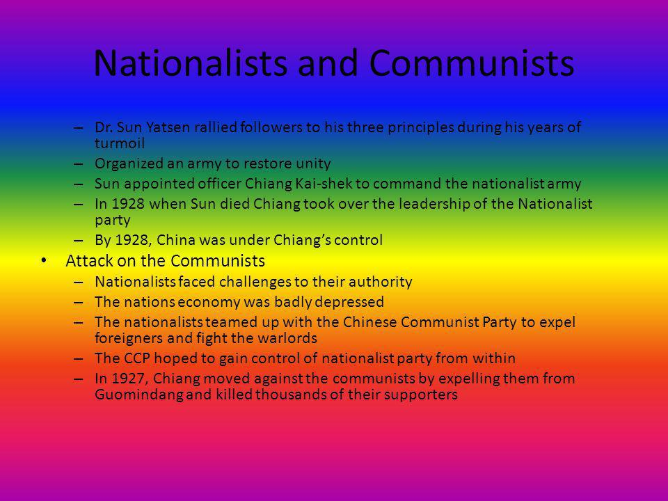 Nationalists and Communists – Dr.