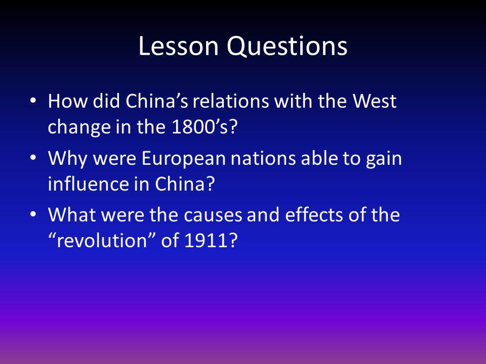 Lesson Questions