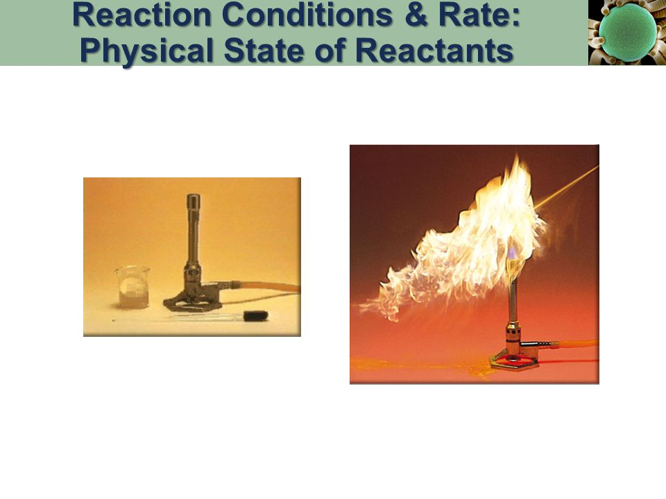 Reaction Conditions & Rate: Physical State of Reactants