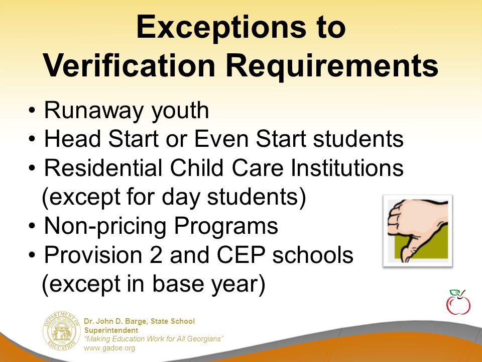 "Dr. John D. Barge, State School Superintendent ""Making Education Work for All Georgians"" www.gadoe.org Direct certification Extended direct certificat"