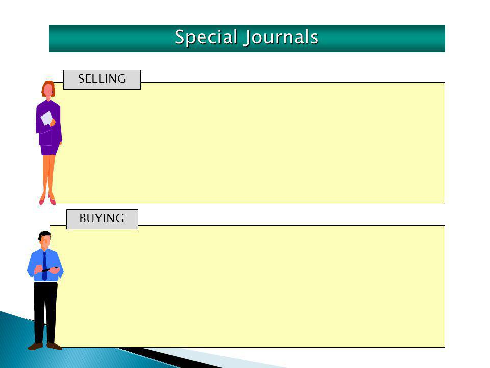 SELLING BUYING Special Journals