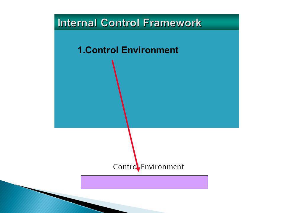 1.Control Environment 2.Risk Assessment Risk Assessment Control Environment