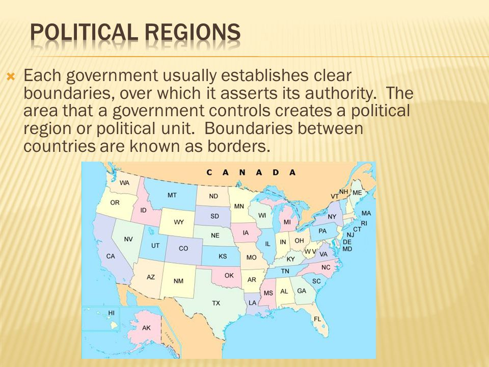  Each country usually has several levels of government – such as cities, counties, or states (provinces).