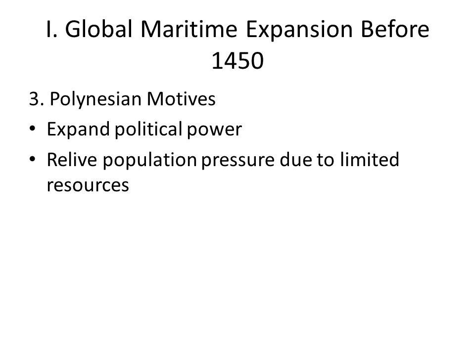 II.European Expansion 1400-1500 3.