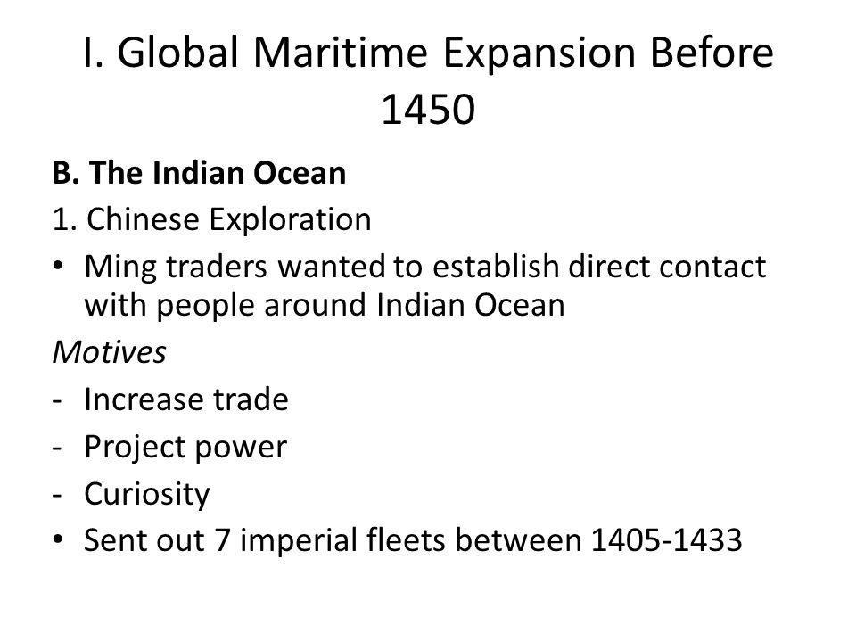 II.European Expansion 1400-1500 4.