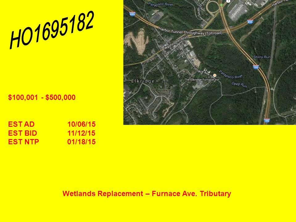 Wetlands Replacement – Furnace Ave.