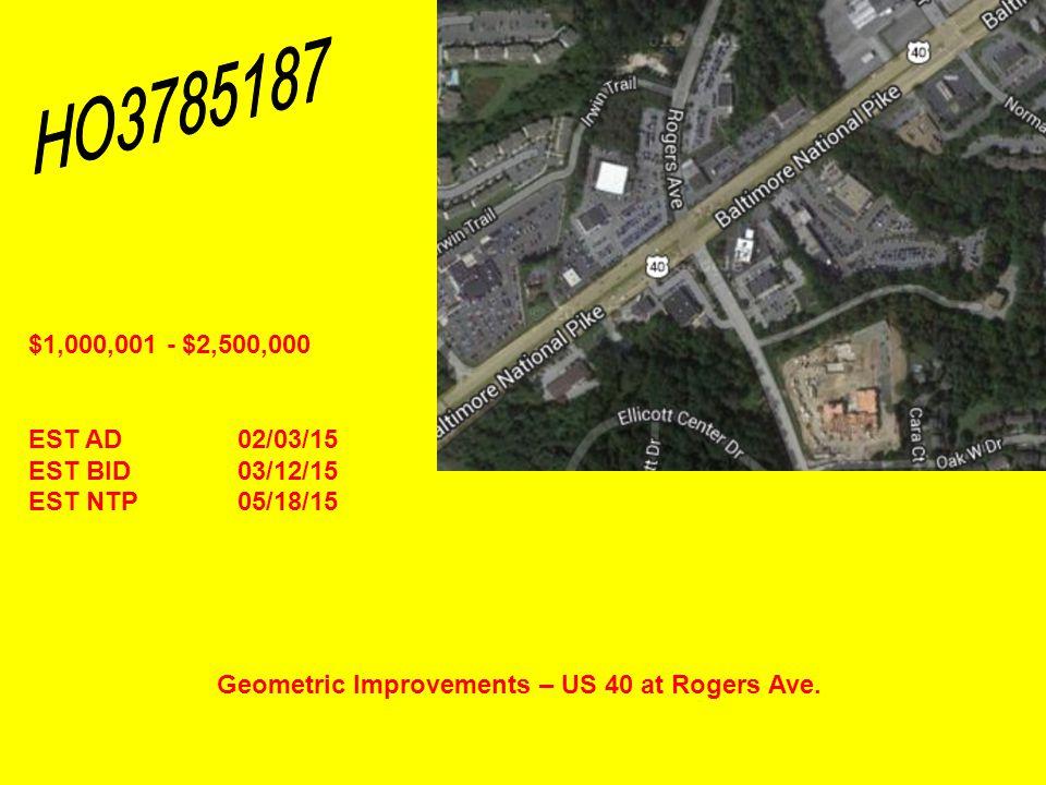 Geometric Improvements – US 40 at Rogers Ave.