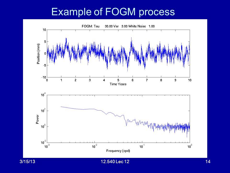 3/15/1312.540 Lec 1214 Example of FOGM process