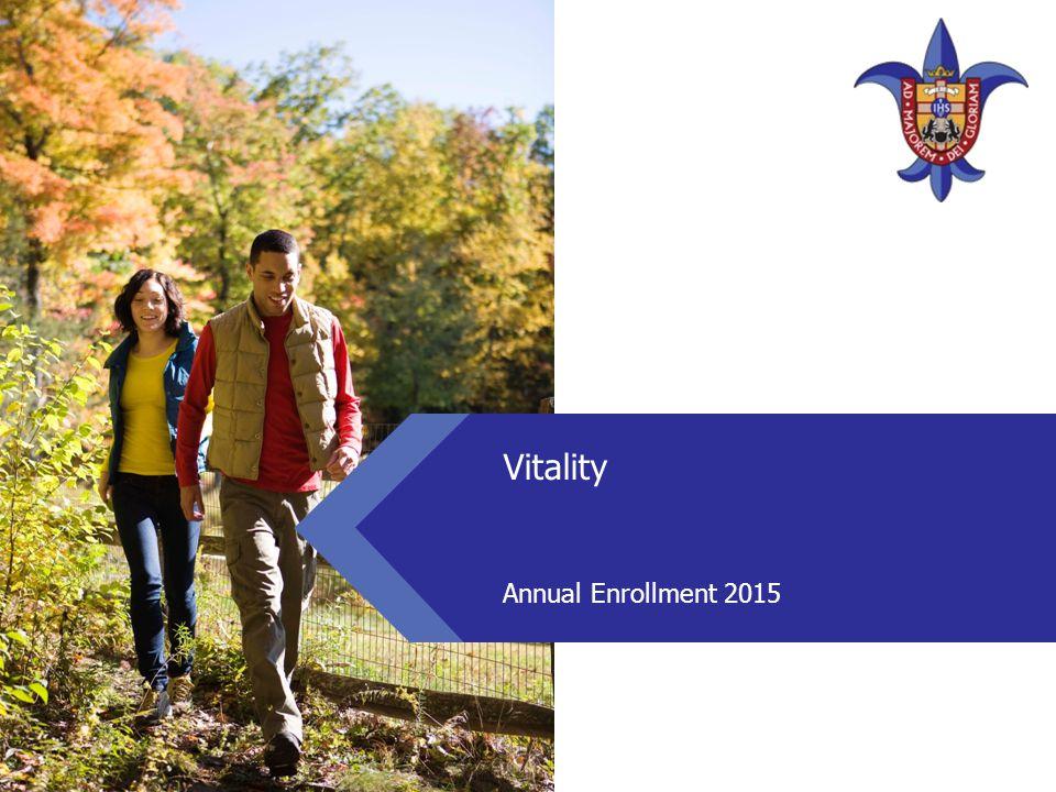 Vitality Annual Enrollment 2015