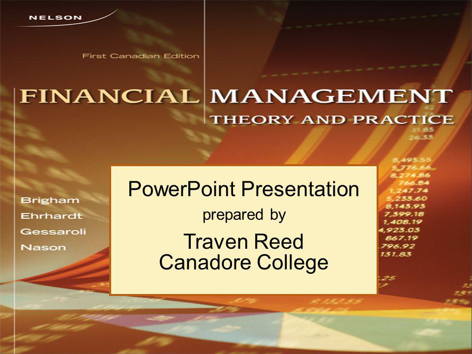 PowerPoint Presentation prepared by Traven Reed Canadore College