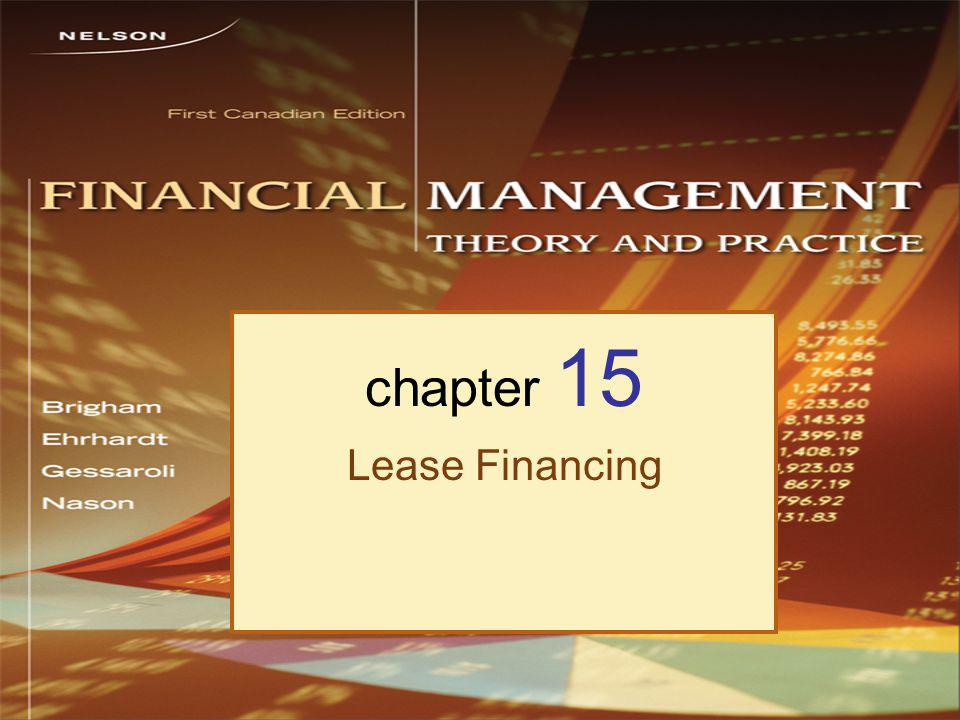 chapter 15 Lease Financing