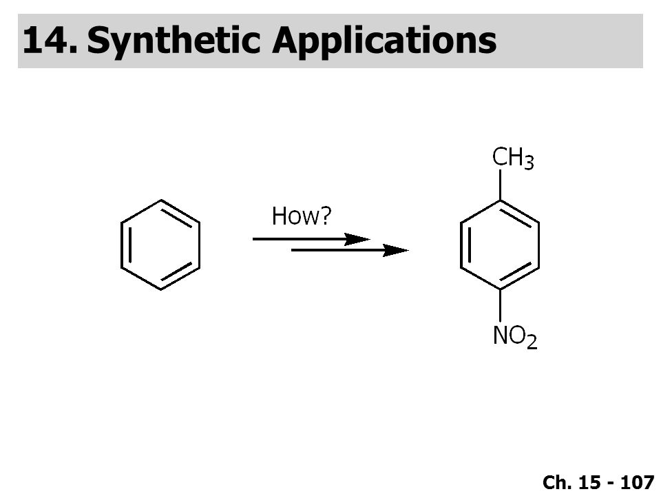 Ch. 15 - 107 14.Synthetic Applications
