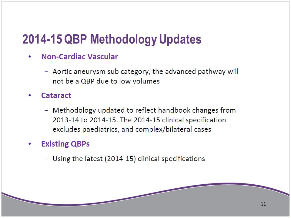 2014-15 QBP Methodology Updates 11