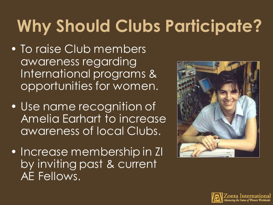 Why Should Clubs Participate.