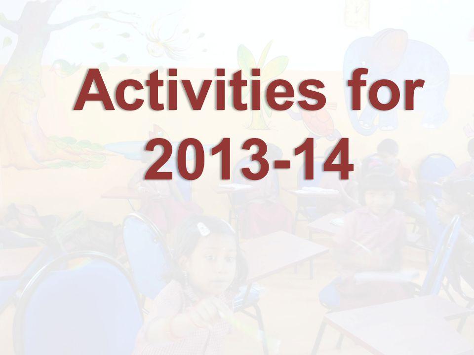 Activities for 2013-14