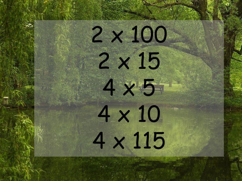 2 x 100 2 x 15 4 x 5 4 x 10 4 x 115