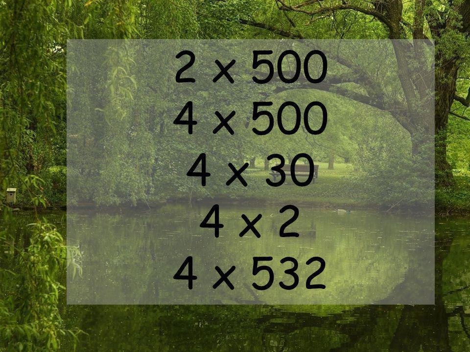 2 x 500 4 x 500 4 x 30 4 x 2 4 x 532