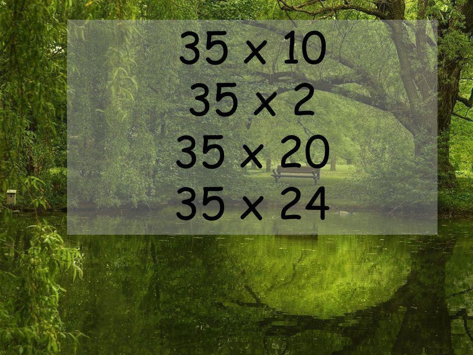 35 x 10 35 x 2 35 x 20 35 x 24