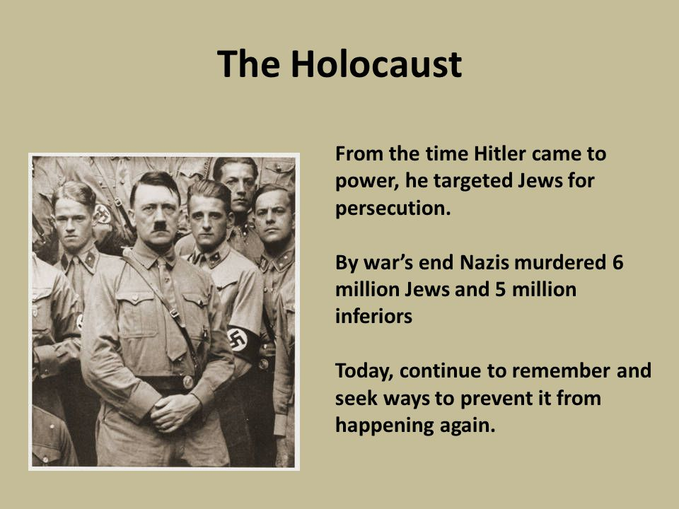 Roots of the Holocaust Edward R Murrow saw at Buchenwald just a fragment of the most horrible chapter of the Nazi era.