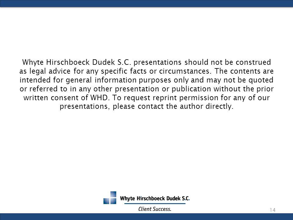 Whyte Hirschboeck Dudek S.C.
