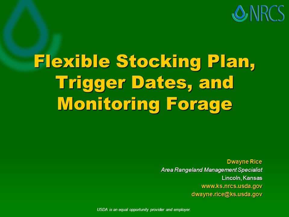 Monitoring Forage  July 15  Use a Robel Pole or yard stick to measure the average forage height in inches throughout a paddock or pasture  Remember:  Tall dropseed, Silver bluestem, and Old World Bluestem may be grass but the cows don't think of them as forage