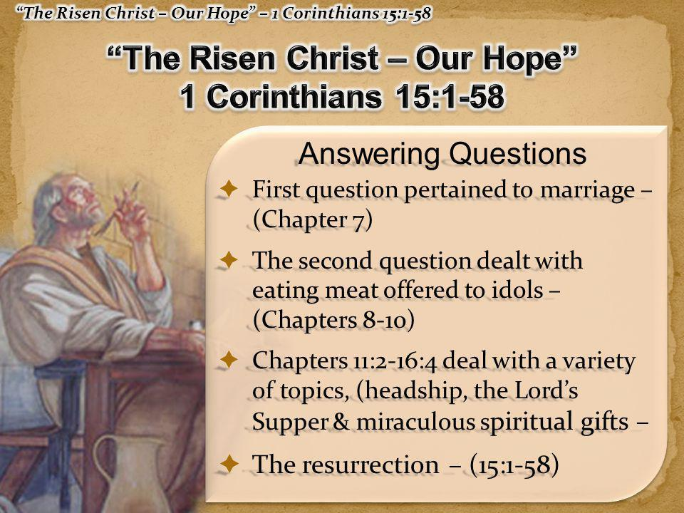  NO room for two, or three separate resurrections in 1007 years – (John 5:28,29; 2 Thes 1:6-12; 2 Pet 3:10-14)  Jesus is reigning NOW – (25-28; Mark 9:1; Acts 2:25-36; Col.