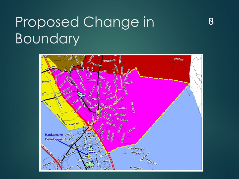 Proposed Change in Boundary 8
