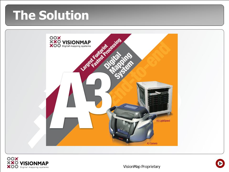 VisionMap Proprietary The Solution