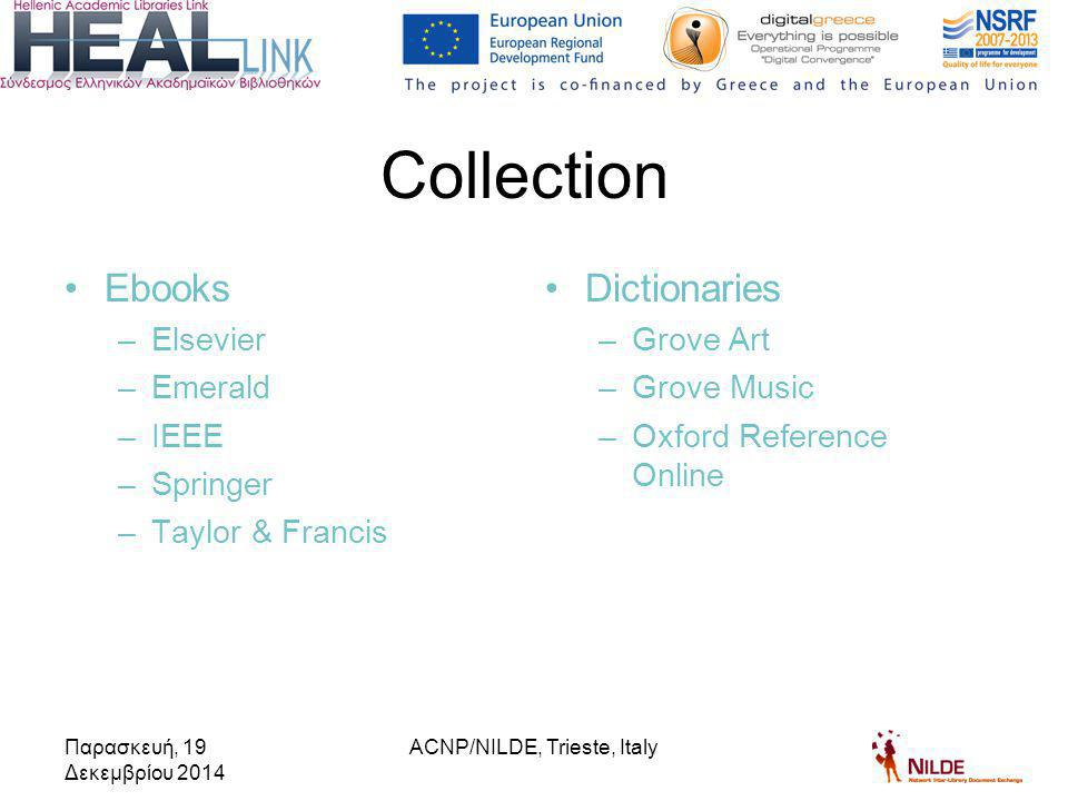 Collaboration agreement on the dissemination and joint development of NILDE software Aim of the agreement –To develop a new HEAL-Link Electronic Document Delivery (EDD) Service in order to provide Public Greek Organizations with articles and book chapters exclusively from e-journals / e-books subscriptions of HEAL-Link.