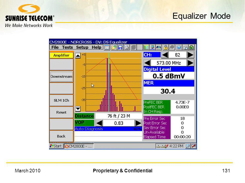 March 2010Proprietary & Confidential130 Equalizer Mode