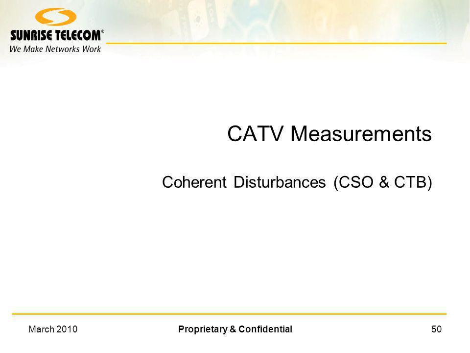 March 2010Proprietary & Confidential49 CCN Measurement CCN Result Measurement Point Noise near Noise Correction