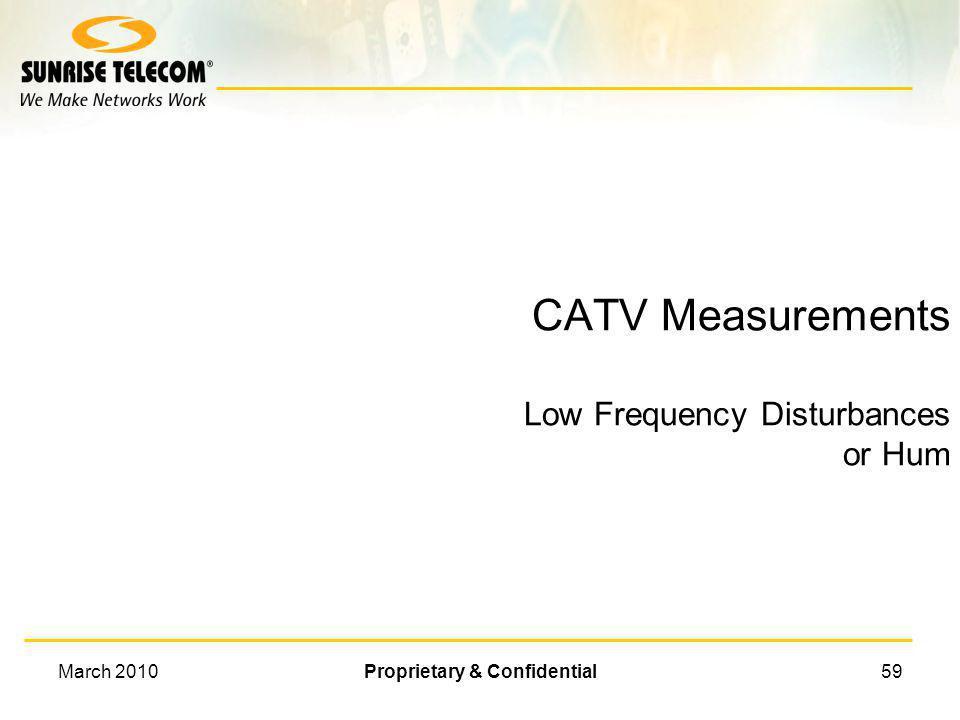 March 2010Proprietary & Confidential58 CCN/CSO/CTB Results CSO CTB CNR