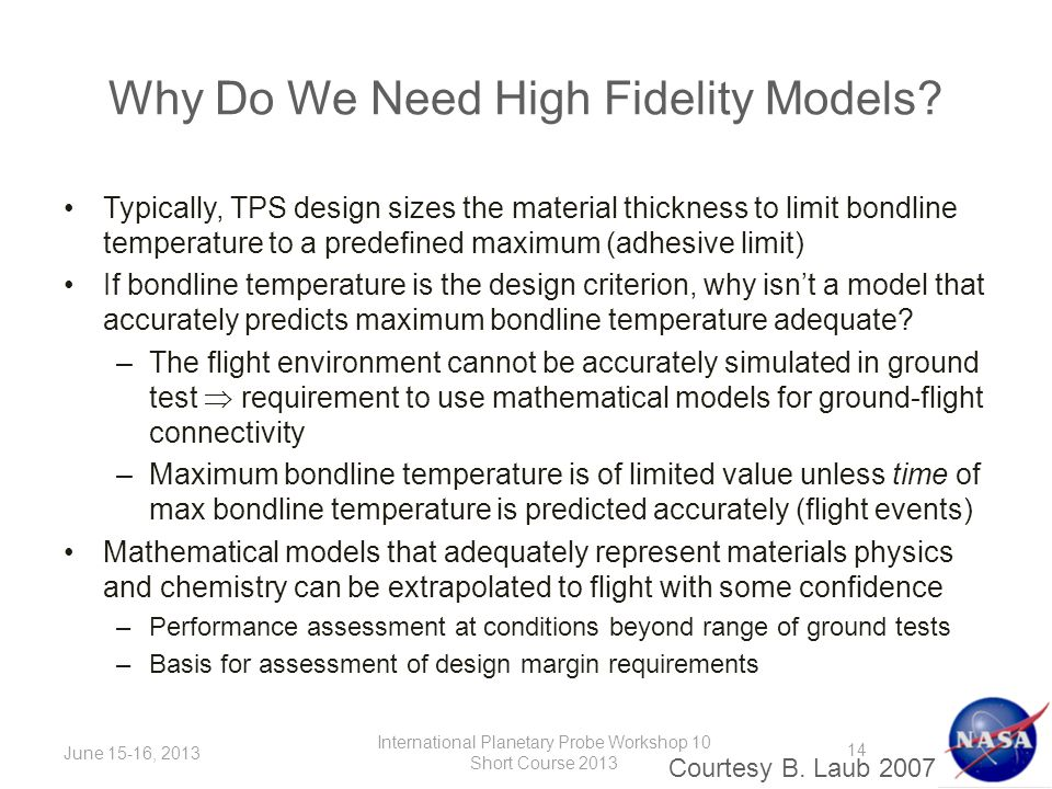 Why Do We Need High Fidelity Models.