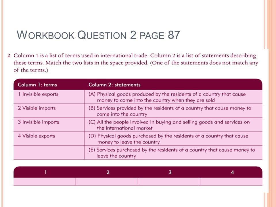 W ORKBOOK Q UESTION 2 PAGE 87