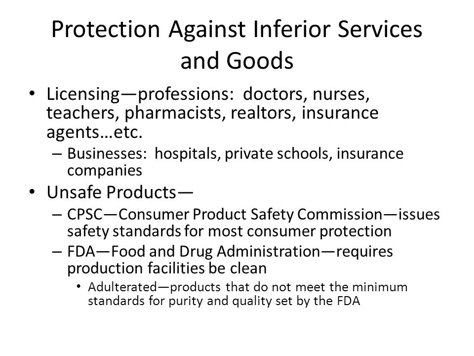 Protection Against Unfair Trade Practices Unfair trade practice—any method of business that is dishonest or fraudulent or that illegally limits free competition – Federal Trade Commission Act: prevent unfair trade practices in interstate commerce (business conducted between two or more states) and intrastate commerce (business conducted within one state) Competition—keeps prices low for consumer, price fixing is illegal