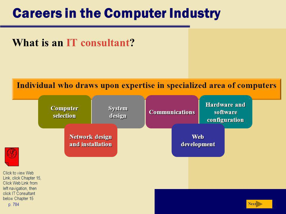 Careers in the Computer Industry What is an IT consultant.