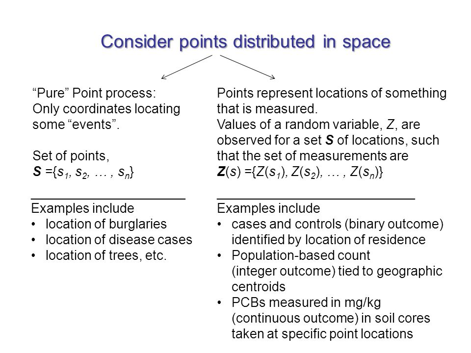 General Protocol: 1.Characterize properties of spatial autocorrelation through variogram modeling; 2.Predict values for spatial locations where no data exist, through Kriging.