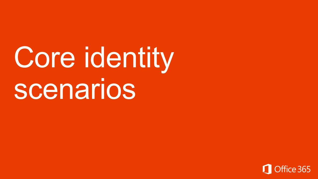 Core identity scenarios