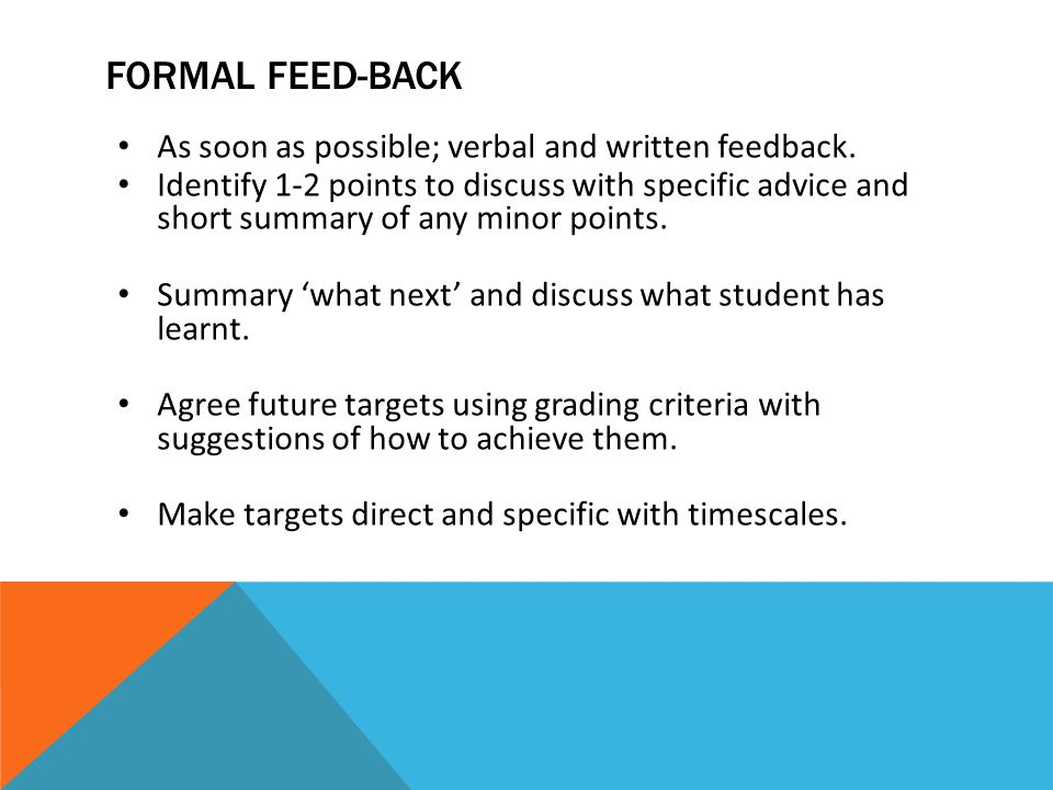 THE GRADING CRITERIA To be used formatively and summatively.