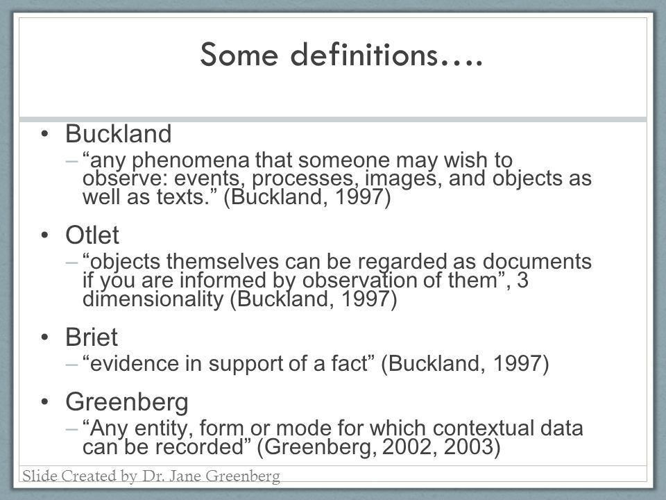 Some definitions….